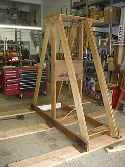 Section of completed trebuchet.
